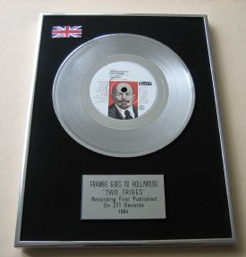 FRANKIE GOES TO HOLLYWOOD - TWO TRIBES PLATINUM Single Presentation DISC
